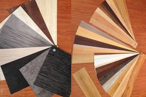 Designbelag Holz- und Steinoptiken